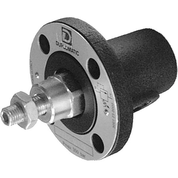 Közvetlen vezérlésű nyomáshatároló szelep (peremes, csőbe építhető) p max 350 bar Q max 3l/min Használható szelepek távoli vezérlésére és két lépcsős nyomás csökkentésre is 4 különböző nyomástartományban kapható, egészen 350 bar-ig
