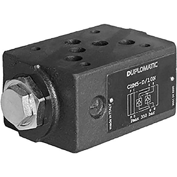 ISO 4401-05 p max 350 bar Q max 120 l/min Vezérelt visszacsapószelep közlap CETOP 05