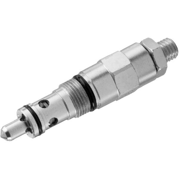 Közvetlen vezérlésű nyomáshatároló szelep p max 350 bar Q max 50 l/min Általában hidraulikus rendszerek nyomás maximumok korlátozására használják, az aktuátorok által keltett nyomás csúcsok kiküszöbölésére