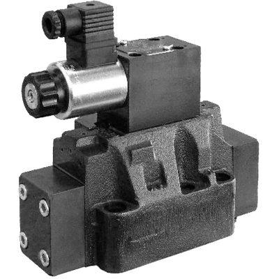 Kívülről vezérelhető elővezérelt háromutas nyomáscsökkentő szelep arányos mágnessel DZCE5 CETOP P05 DZCE5R ISO 4401-05 DZCE7 ISO 4401-07 DZCE8 ISO 4401-08 p max 350 bar Q max (lásd katalógus)