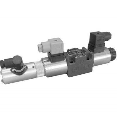 Közvetlen működtetésű útszelep arányos mágnessel, útmérővel ISO 4401-03 p max 350 bar Q max 40 l/min