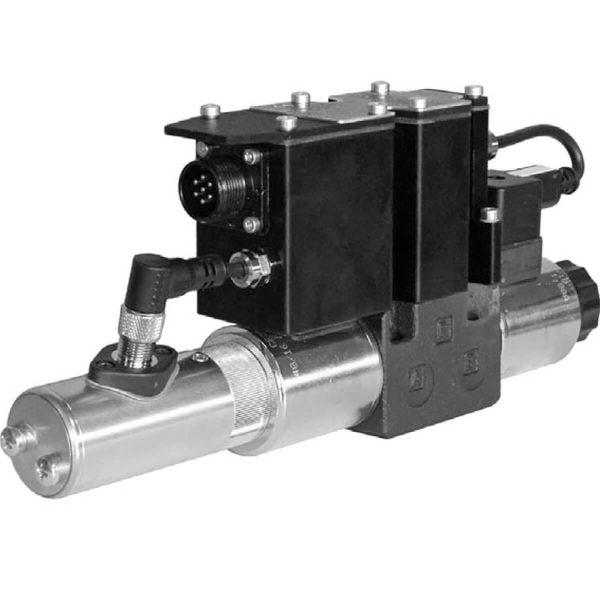 Közvetlen működtetésű útszelep arányos mágnessel, ráépített elektronikával, visszacsatolással ISO 4401-03 p max 350 bar Q max 80 l/min