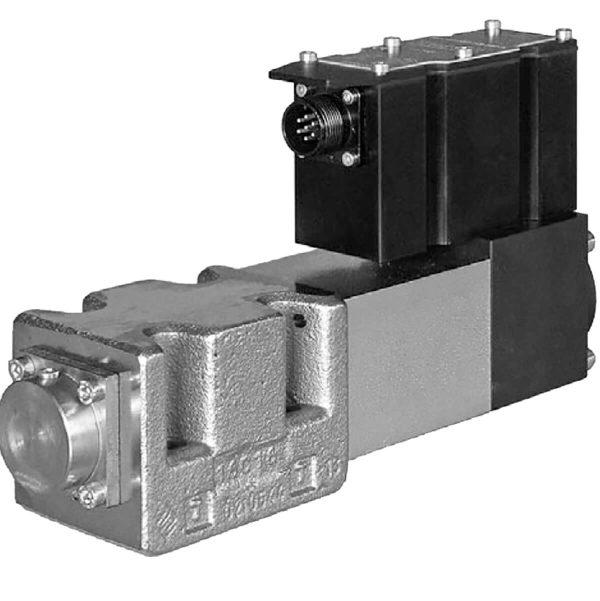 Gyors válaszadású szervo útszelep ráépített elektronikával (OBE) ISO 4401-05 p max 350 bar Q max 100 l/min