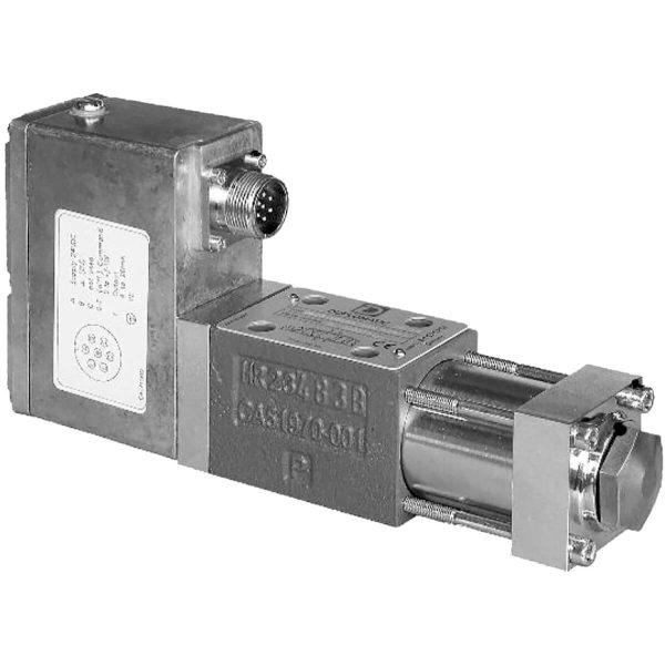 Közvetlen működtetésű szervo útszelep ráépített elektronikával (OBE) Cetop 03 P max 350 bar Q max (lásd katalógus) A DXJ3 szelep egy 4 útú szervó-arányos szelep ahol a tolattyú hüvelyben mozog.