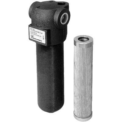 Csővezetékbe építhető nyomóági szűrő p max 420 bar Q max (lásd katalógus) Csővezetékbe építhető nyomóági szűrő p max 420 bar Q max (lásd katalógus)