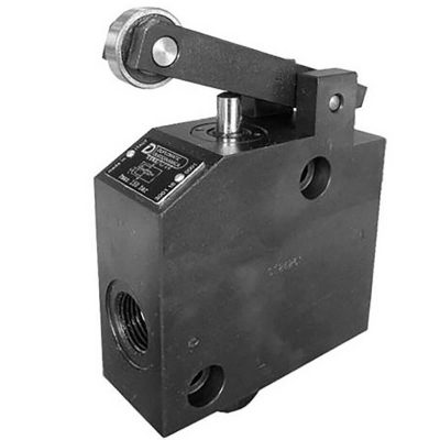 A K4WA / C szelep mechanikusan működtetett fékszelep, BSPP menetes csatlakozókkal Általában a hidraulikusan táplált mozgások sebesség megváltoztatására szolgál, például a gyorsról a lassúra, vagy lassúról megállásra A szelep általában alap helyzetben nyitva van, P és A ágak összekötve Az áramlást részben vagy teljesen leállítja a szelepen található kapcsoló végállása Mindig beépített visszacsapó szeleppel szállítják, amely lehetővé teszi az A és a P ágak közötti szabad áramlást
