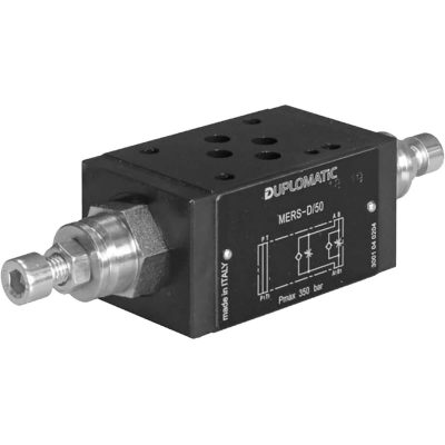Közlapos hidraulikus áramlás szabályozó szelep