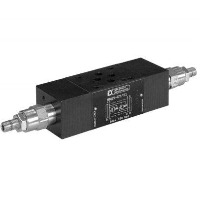 ISO 4401-03 P max 350 bar Q max 75 l/min Az MRW egy elővezérelt nyomáshatároló, ISO 4401-03 szabvány szerinti kialakítással és rögzítéssel Rendelhető szimpla vagy dupla vezérlő ággal akár 4 különböző nyomás értékhez