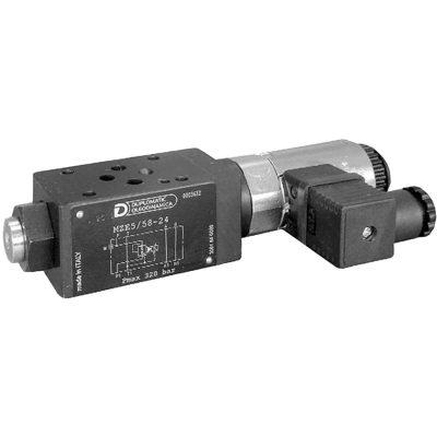 Közlapos elővezérelt nyomáscsökkentő arányos mágnessel CETOP 03 ISO 4401-03 p max 320 bar Q max (lásd katalógus)