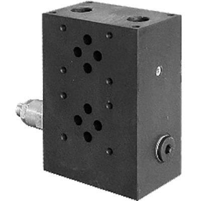 Moduláris alaplap hidraulikus szelepekhez, ISO 4401-03 méretben p max 350 bar Q max 50 l/min