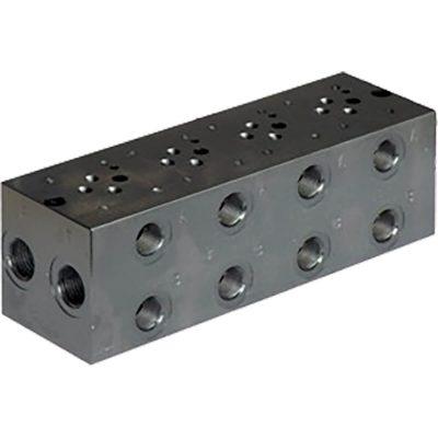 Alaplap, ISO 4401-03 méretű hidraulikus szelepek részére, oldalsó csatlakozásokkal p max 210 bar Q max 50 l/min