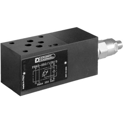 ISO 4401-03 p max 350 bar Q max (lásd katalógus) Közlap visszacsapószelep és nyomáshatároló a B ágban CETOP 03 (ellentartó szelep) Feladata, hogy a kilépő olajnyomást úgy alakítsa, hogy a belépő olaj szabadon áramolhasson