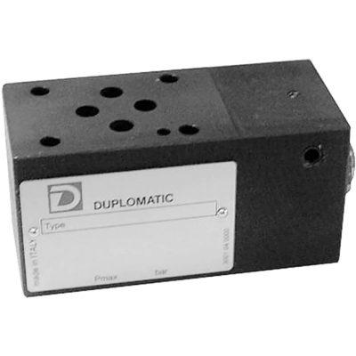 ISO 4401-03 p max 350 bar Q max 40l/min Közlap közvetlen vezérlésű két- és háromutas nyomáskülönbség állandósító, a P és az A vagy B ág között (4,8,….33bar) CETOP 03 Proporcionális szelepekkel együtt használják, az áramlási sebesség szabályozására, nyomástól függetlenül