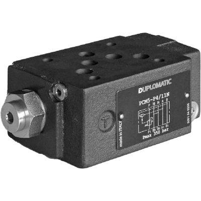 ISO 4401-03 p max 350 bar Q max 100l/min Közlap közvetlen vezérlésű két- és háromutas nyomáskülönbség állandósító, a P és az A vagy B ág között (4-8bar) CETOP 05 Proporcionális szelepekkel együtt használják, az áramlási sebesség szabályozására, nyomástól függetlenül