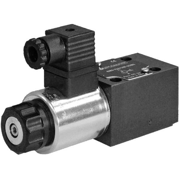 Alaplapos közvetlen vezérlésű nyomáshatároló, arányos mágnessel CETOP 03 ISO 4401-03 p max 350 bar Q max 2 l/min