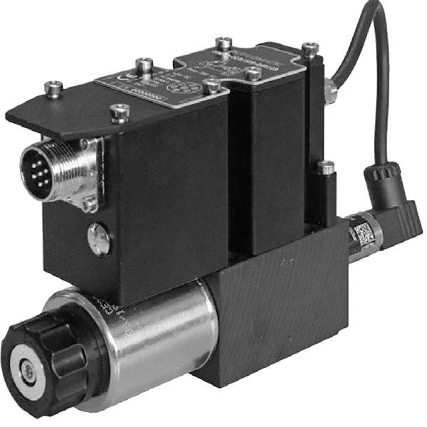Alaplapos közvetlen vezérlésű nyomáshatároló, arányos mágnessel, ráépített elektronikával, visszacsatolással, zárt körfolyamhoz CETOP 03 ISO 4401-03 p max 350 bar Q max 2 l/min
