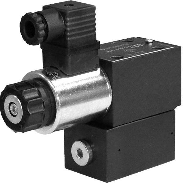 Alaplapos elővezérelt nyomáshatároló arányos mágnessel CETOP 03 ISO 4401-03 p max 350 bar Q max 40 l/min