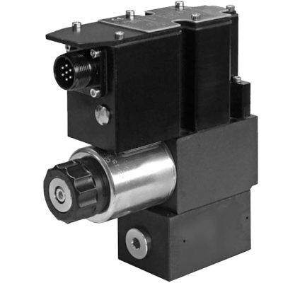 Alaplapos elővezérelt nyomáshatároló arányos mágnessel, ráépített elektronikával CETOP 03 ISO 4401-03 p max 350 bar Q max 40 l/min