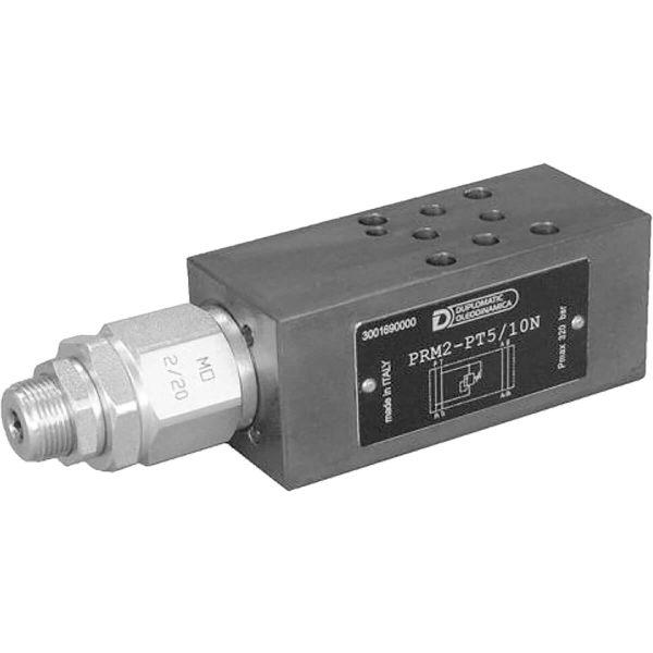 ISO 4401-02 p max 320 bar Q max 20l/min Közvetlen vezérlésű nyomáshatároló CETOP R02