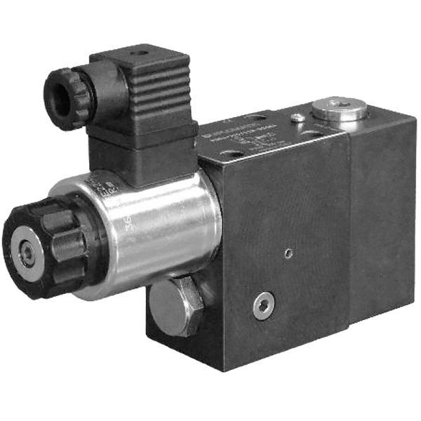 Alaplapos elővezérelt 3 utas nyomáscsökkentő, arányos mágnessel CETOP 03 ISO 4401-03 p max 350 bar Q max 40 l/min