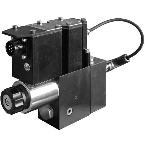 Alaplapos elővezérelt 3 utas nyomás csökkentő, arányos mágnessel, ráépített elektronikával, zárt körfolyamhoz CETOP 03 ISO 4401-03 p max 350 bar Q max 40 l/min