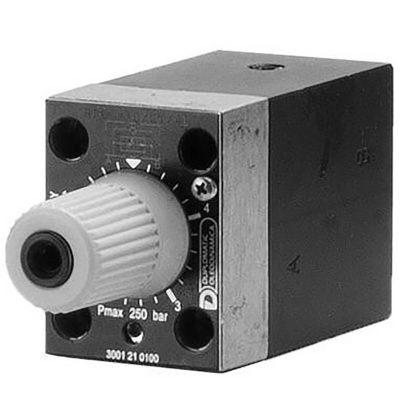 Az RPC1 szelep egy nyomás és hőmérséklet kompenzált áramállandósító szelep