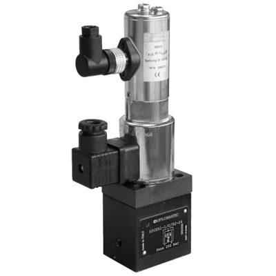 Kétutas mennyiség szabályozó szelep arányos mágnessel, pozíció érzékeléssel CETOP 03 ISO6263-03 p max 250 bar Q max (lásd katalógus)