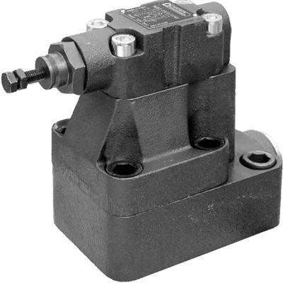 Elővezérelt akkumulátor töltő – nyomáslekapcsoló szelep (alaplapos) CETOP R06, R08, R10 Az RQR*-P és az RQR*-A nem csak nyomás csökkentő vagy biztonsági szelepek de a szivattyú teljes áramlását elmenő ágra elengedik ha elérte a közeg a beállított nyomás értéket.