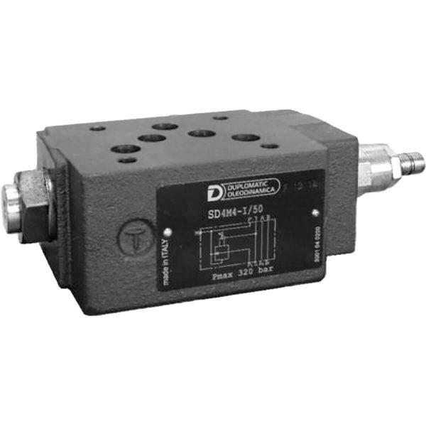 ISO 4401-05 p max 320 bar Q max (lásd katalógus) Közvetlen vezérlésű rákapcsoló-szelep közlap CETOP 05 Kettő vagy több aktuátor egymás utáni vezérlésére alkalmas. Alaphelyzetben zárt. Amennyiben a P1 ágon a nyomás eléri az előre beállított értéket, úgy a szelep nyit és ráengedi a hidraulika folyadékot a P ágra. A szelep nyitott marad egészen míg a nyomás nem esik a beállított érték alá.