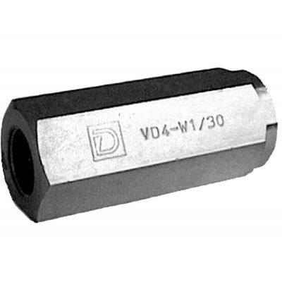 """Csőbe építhető visszacsapószelep G ¼""""-G2"""" p max 400 bar Q max (lásd katalógus)"""
