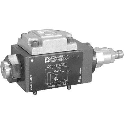 Elővezérelt háromutas nyomáscsökkentő szelep CETOP 03 p max 350 bar Q max 25 l/min
