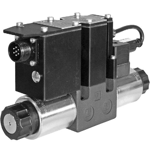 Alaplapos közvetlen vezérlésű nyomáscsökkentő, arányos mágnessel, ráépített elektronikával CETOP 03 ISO 4401-03 p max 100 bar Q max 15 l/min