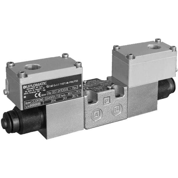 Robbanásbiztos alaplapos közvetlen vezérlésű nyomás csökkentő arányos mágnessel CETOP 03 ISO 4401-03 ATEX, IECEx, INMETRO p max 100 bar Q max 15 l/min