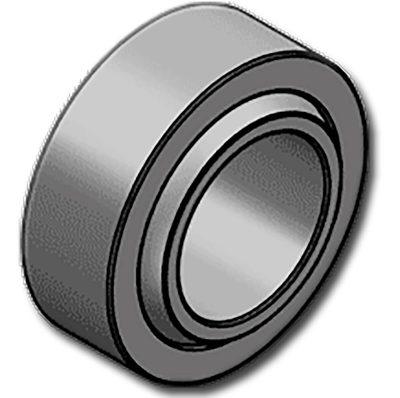 A GE..HHK sorozatgömbcsuklós csapágyai karbantartásmentesek. A csapágy külső gyűrűje acélból készült, szinterezett bronz perselyekkel és PTFE betéttel. Ezt a perselyt ezután a gyűrű belső részére nyomják. A belső gyűrű edzett, a munkafelület kemény krómozott. Ez a csapágykülönösen ajánlott az egyoldalú, állandó és lökések nélküli terhelésekre(különösen azemelési feladatok, hidraulikus hengerek dugattyúrúdjai, stb…)