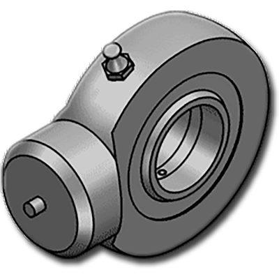 A HBJE…Cgömbcsukló hidraulikus munkahengerekhez, körköröshegesztéssel rögzíthető, központosítást segítő szemmel ellátva. ISO 12240-4 szabvány szerint gyártva, E szériás, M típusú. 25-s átmérőtől kenést igényel. A ház S355JR UNI EN 10025 acél.Könnyebb alkalmazásokra tervezve,munkahenger fenékenvagydugattyúrúdvégen rögzítve.
