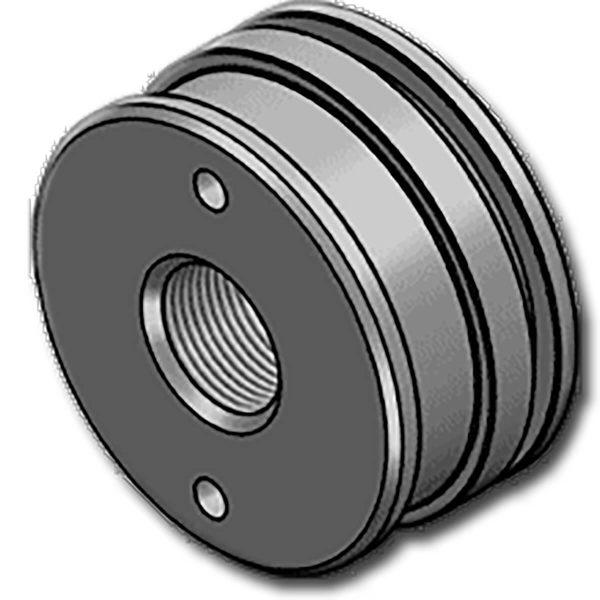 """A HCPFG dugattyú széria egy félkész termékkettős működésű munkahengerekhez. Kompakt kivitele megoldást jelenthet amunkahengerméretének csökkentésére. Kialakítása kifejezetten a az """"O"""" gyűrűvel támasztott teflon-bronztömítéshezalkalmas, ahol a munkahenger tömítései nagy terhelést kapnak vagy magas hőmérsékletet. Továbbá az alacsony súrlódási együttható biztosítja a simább mozgást és minimumra csökkenti az akadozó járást."""
