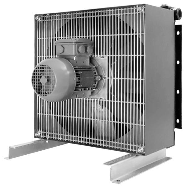 """Olaj/levegő hűtő ipari felhasználásra Vizsgálati nyomás: statikus 25 bar a DIN 50104 szerint Üzemi nyomás: 16 bar (min. 2 millió ciklus) 0 – 16 bar 2 Hz és 60 ° C hőmérsékleten) Kompakt olajhűtő Magas hűtőteljesítmény Alacsony nyomásveszteség üzemi hőmérséklet: 120 ° C Nagy rugalmasság 2"""" SAE karima az LKI 700-tól felfelé Az olaj, HFA, HFB, HFC, HFD folyadékok hűtése legfeljebb v = 100 x 10-6 m2 / s, Wasser / Glykol elme. 65:35 – semmiképpen sem korrózió veszélyes vízzel Hűtőfolyadék: levegő"""