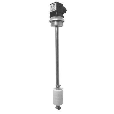 Szintkapcsoló Elektromos szintfigyelés Alkalmas ásványolajokhoz, dízelhez és benzinhez, valamint a vízhez Érintkezőcső: sárgaréz Úszókapcsoló: nejlon hőmérséklet: 80 ° C Védettség: IP 65 Hiszterézis: 2 – 3 mm feszültség: 250 V AC kapcsolóáram: 1 A szint AC / DC teljesítmény: 80 W / VA szint